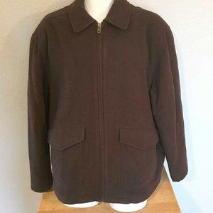 Columbia brown wool blend poly fill coat jacket L